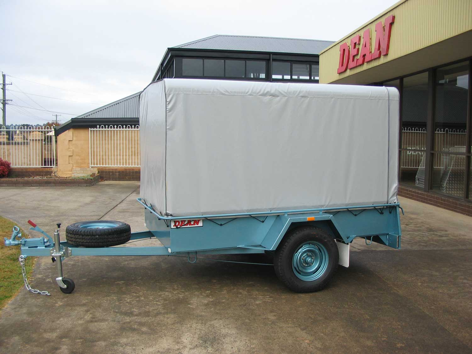 No.12 Single Axle Box Trailer 2.1m x 1.2m unbraked