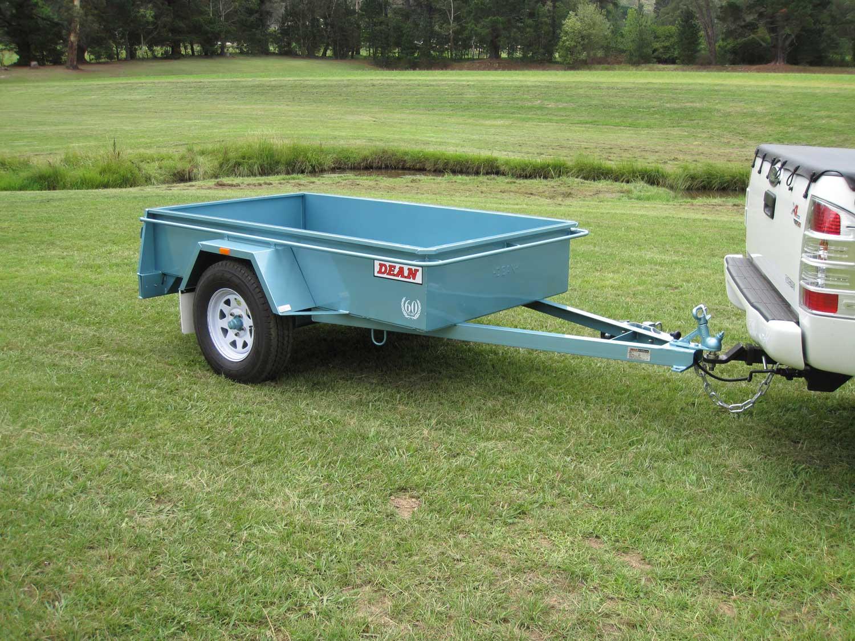 Single axle box trailer x unbraked for Schreibtisch 2m x 1m