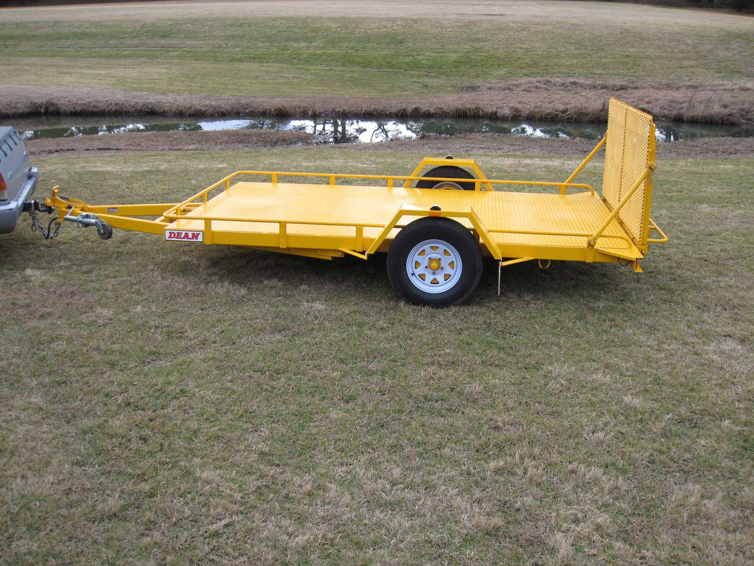 No. 17 Single Axle Tilt Bed Plant Transport Trailer