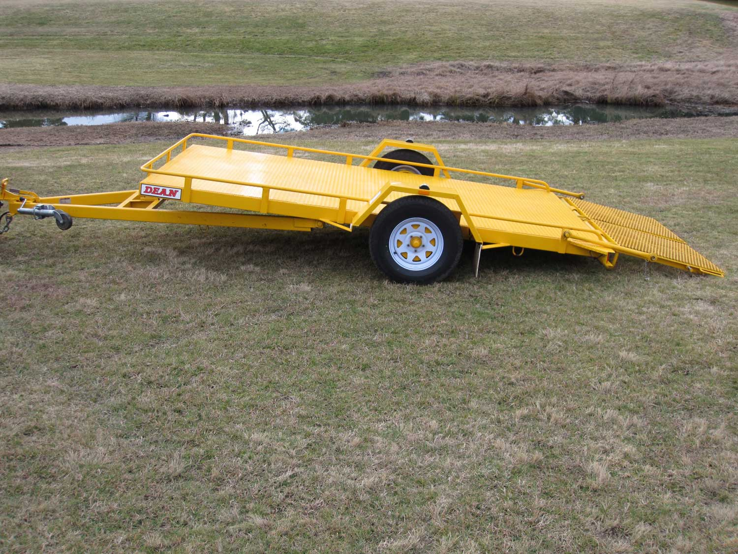 No.17 Single Axle Tilt Bed Plant Transport Trailer