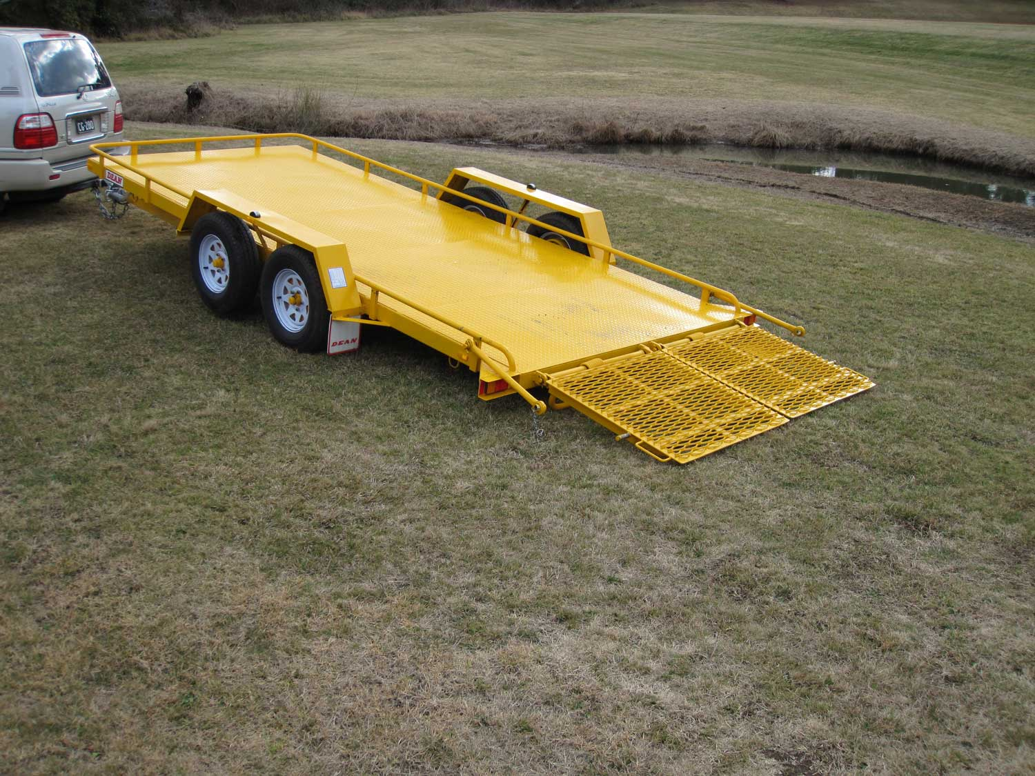 No.18HD Heavy Duty Tandem Axle Tilt Bed Plant Transport Trailer