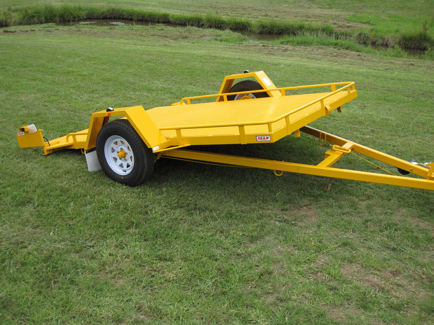 No.19OS Single Axle Tilt Bed Plant Transport Trailer